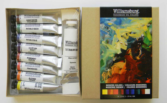 Williamsburg Oil Paint Modern 9 Color Set