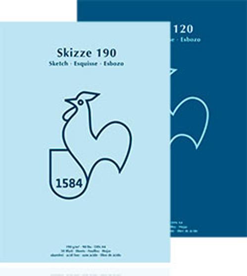 "Hahnemuhle Skizze Sketchbook 190G 6x8"" Tape Bound"