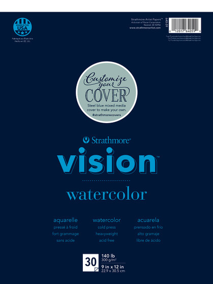 Strathmore Vision Watercolor 30 Sheet Pad 9x12""
