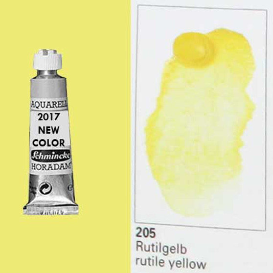 Schmincke Horadam Aquarell 15ml Tube Watercolor Rutile Yellow - 205