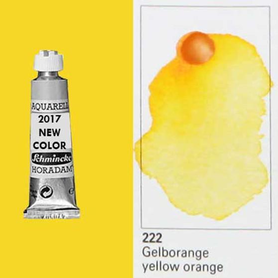 Schmincke Horadam Aquarell 15ml Tube Watercolor Yellow Orange - 222
