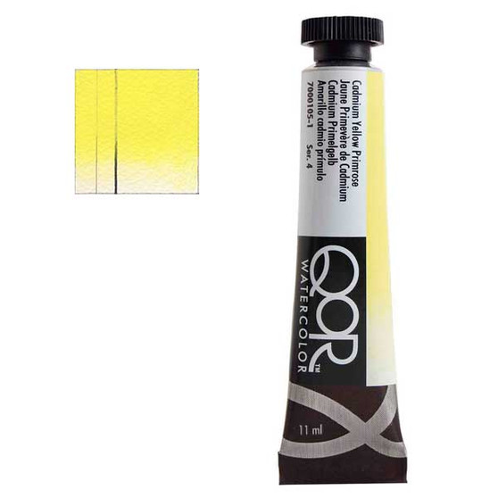 QoR Watercolor 11ml tube Cadmium Yellow Primrose