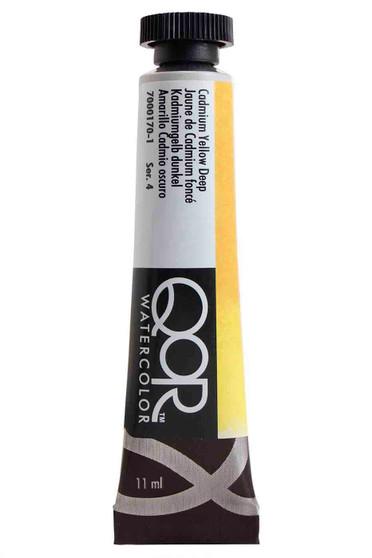 QoR Watercolor 11ml tube Cadmium Yellow Deep