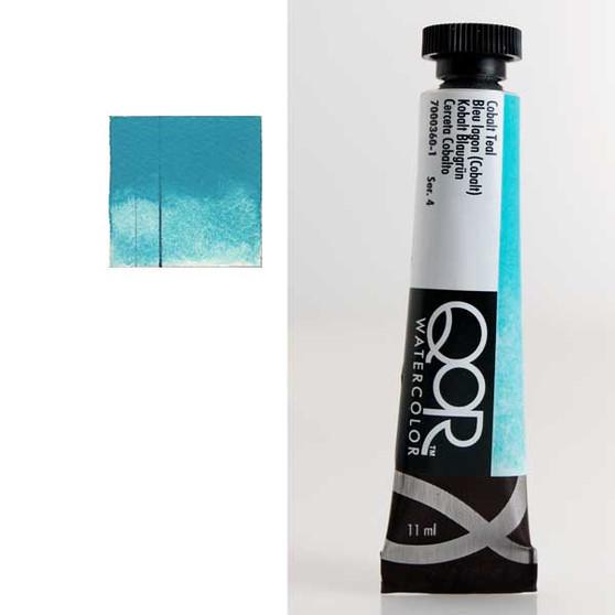 QoR Watercolor 11ml tube Cobalt Teal