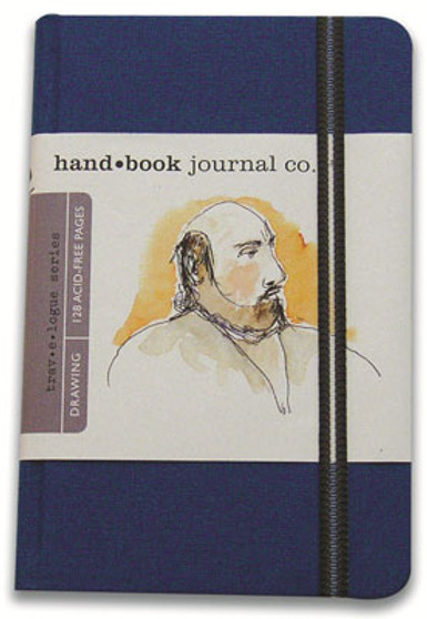 Global Art Hand Book Journal Portrait Pocket Blue 5.5x3.5-Inch