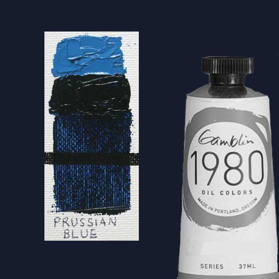 Gamblin 1980 Oil Paint 37ml Prussian Blue