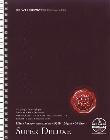 Bee Paper Sketch Pad Aquabee 808 Super Deluxe 9x12 60sh