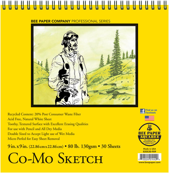 Bee Paper Sketch Pad 820 Co-Mo 9x9 30sh