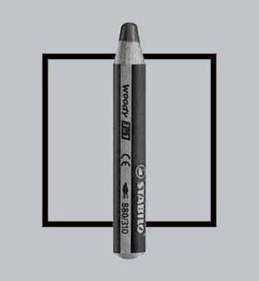 Stabilo Woody 3-In-One Watercolor Pencil Silver