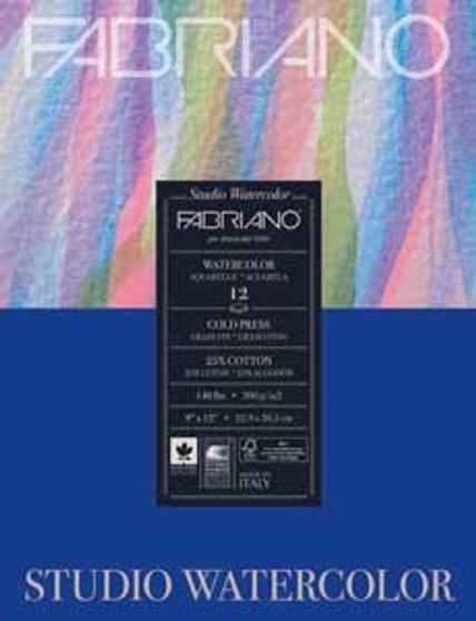 Fabriano Studio Watercolor Pad 11x14 140lb Cold Press