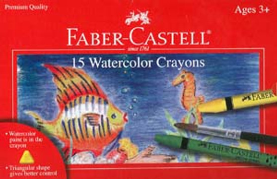 Faber-Castell Red Label 15 Watercolor Crayons
