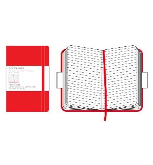 Moleskine Classic Notebook Red Pocket Ruled