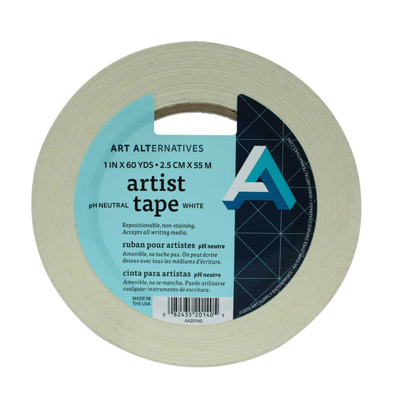 Art Alternatives White Artist Tape 1-inchX60yd