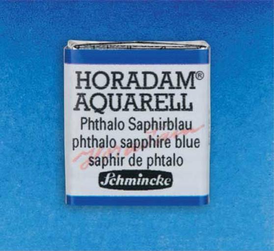 Schmincke Horadam 1/2 Pan Watercolor Phthalo Sapphire Blue - 477