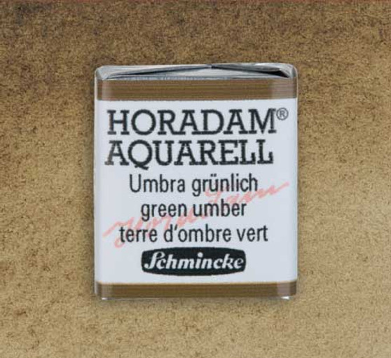 Schmincke Horadam 1/2 Pan Watercolor Green Umber - 665