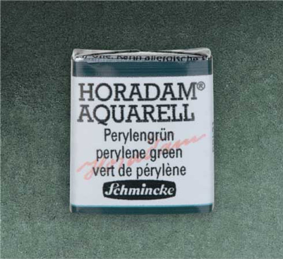Schmincke Horadam 1/2 Pan Watercolor Perylene Green - 784