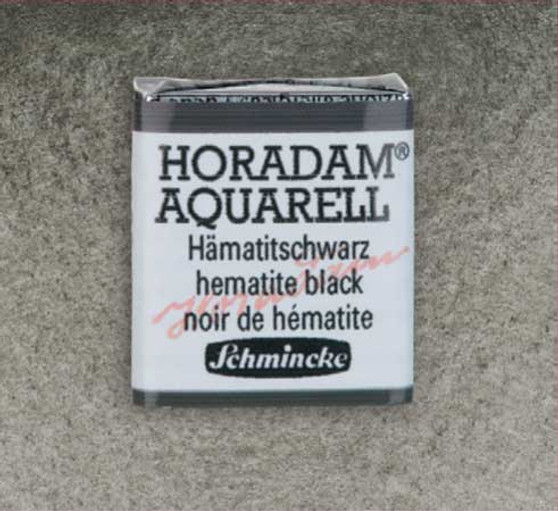 Schmincke Horadam 1/2 Pan Watercolor Hematite Black - 789