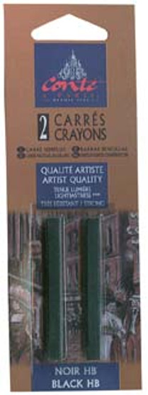 Conte Crayon 2-Pack (Traditional): Black HB