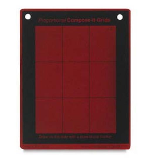 Compose It Grid Pocket Red 3x4