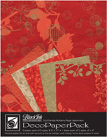 Wyndstone Deco Paper Pack Chinaberry Red