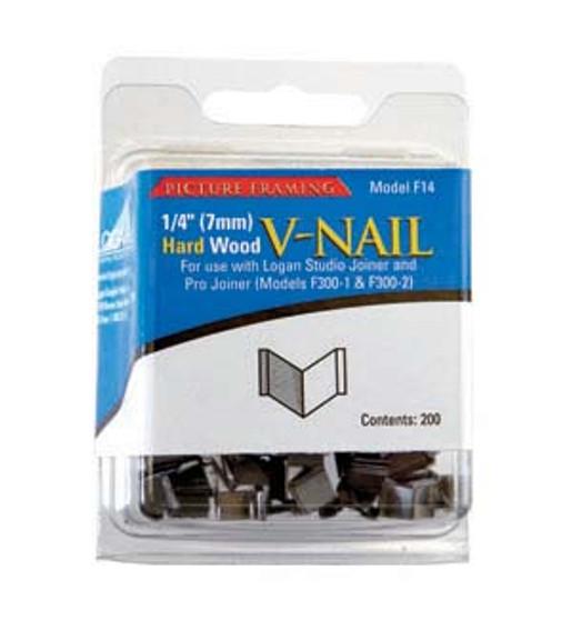 Logan Framing Accessory V-Nail 1/4-Inch Hard Wood 200pk