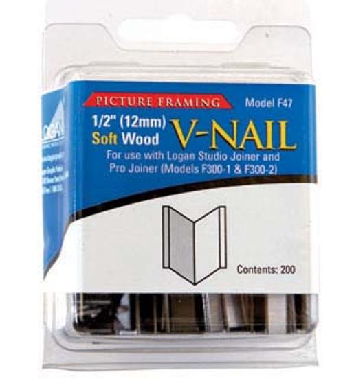 Logan Framing Accessory V-Nail 1/2-Inch Soft Wood 200pk
