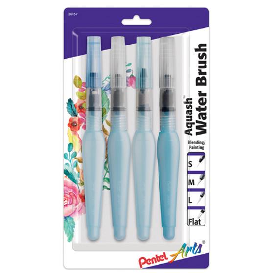 Pentel Aquash Waterbrush Set of 4