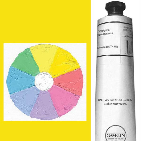 Gamblin Artist Oil 150ml Radiant Yellow