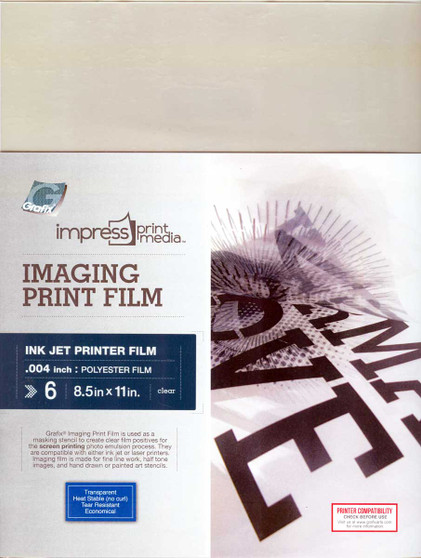 Grafix Impress Print Media Imaging Print Film for Ink Jet Printers 8.5x11 6 Pack