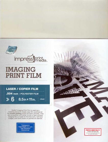 Grafix Impress Print Media Imaging Print Film for Laser Printers 8.5x11 6 Pack