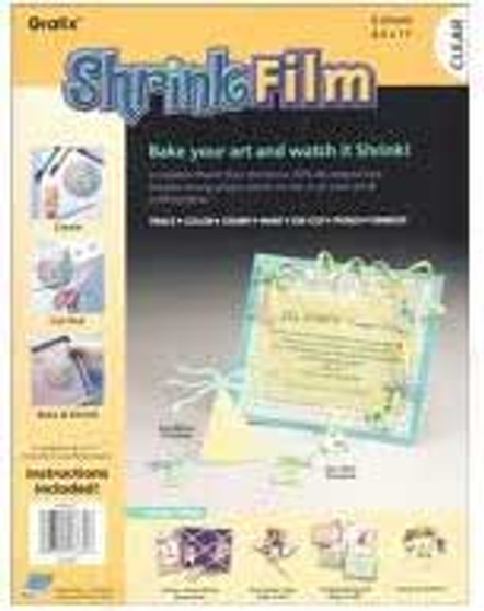 Grafix Clear Shrink Film 8.5x11 6-Pack