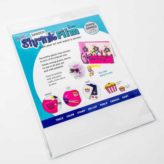 Grafix Sanded Shrink Film 6 pack 8.5x11 sheets