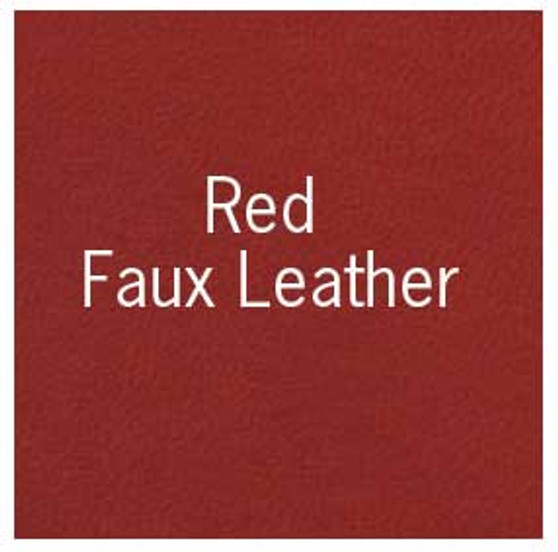 """Books by Hand Book Covering 18x19"""" Sheet Red Faux Leather"""
