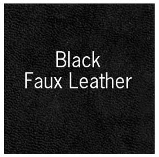 """Books by Hand Book Covering 18x19"""" Sheet Black Faux Leather"""