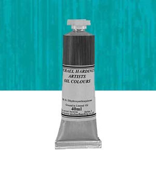 Michael Harding Artist Oil Colour 40ml Phthalocyanine Turquoise