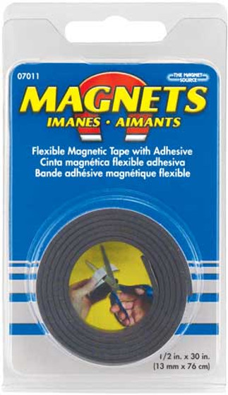 """Flexible Magnetic Tape Roll 1/2"""" x 30"""""""
