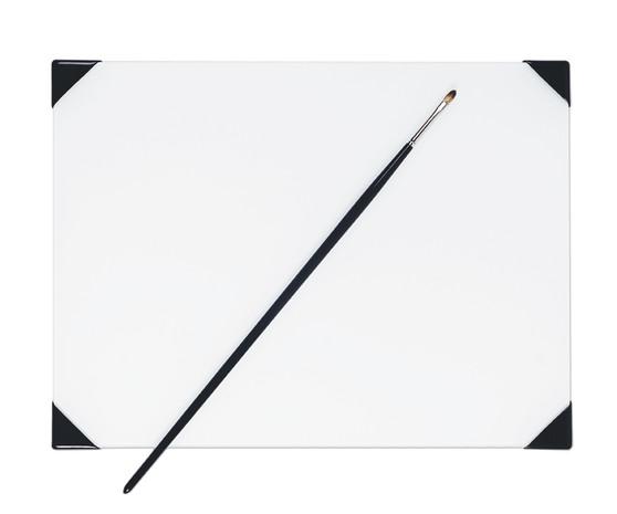 New Wave Posh Glass Palette White 9x12