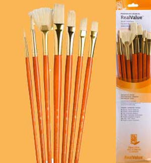 Princeton RealValue Brush Pack Bristle 7pk