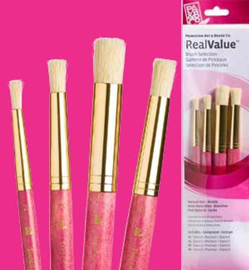 Princeton RealValue Brush Pack Bristle Stencil 4pk