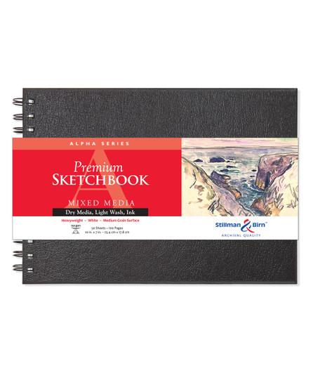 Stillman & Birn Alpha Wirebound Sketch Book 150gsm 10x7 Ls
