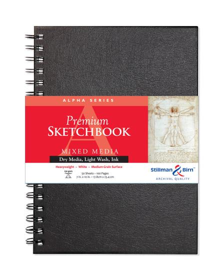 Stillman & Birn Alpha Wirebound Sketch Book 150gsm 7x10