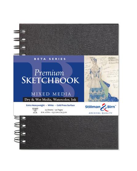 Stillman & Birn Beta Wirebound Sketch Book 270gsm 6x8