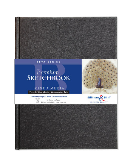 Stillman & Birn Beta Hardbound Sketch Book 150gsm A4 8.25x11.75""