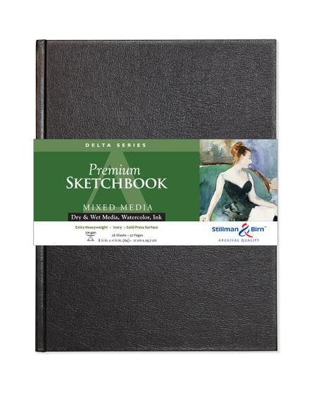 """Stillman & Birn Delta Hardbound Sketch Book 150gsm A4 8.25x11.75"""""""