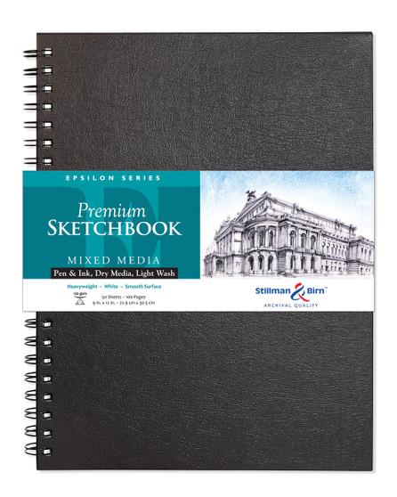 Stillman & Birn Epsilon Series WireSketch Book 150gsm 9x12
