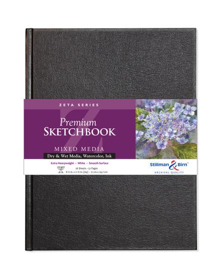 "Stillman & Birn Zeta Hardbound Sketchbook 180lb A4 8.25x11.75"""