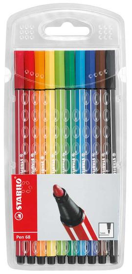 Stabilo Pen 68 Wallet Set of 10
