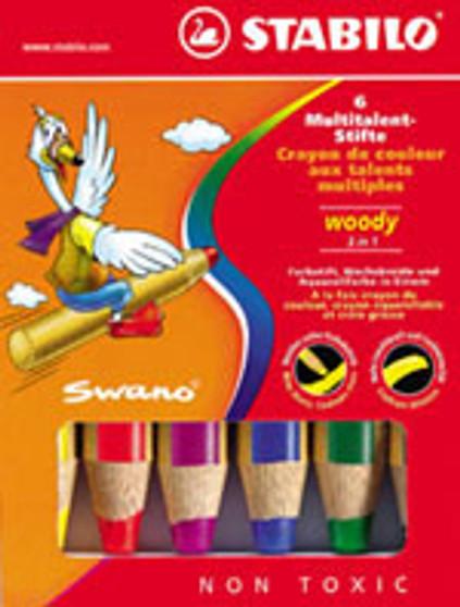 Stabilo Woody 6 Color + Sharpener