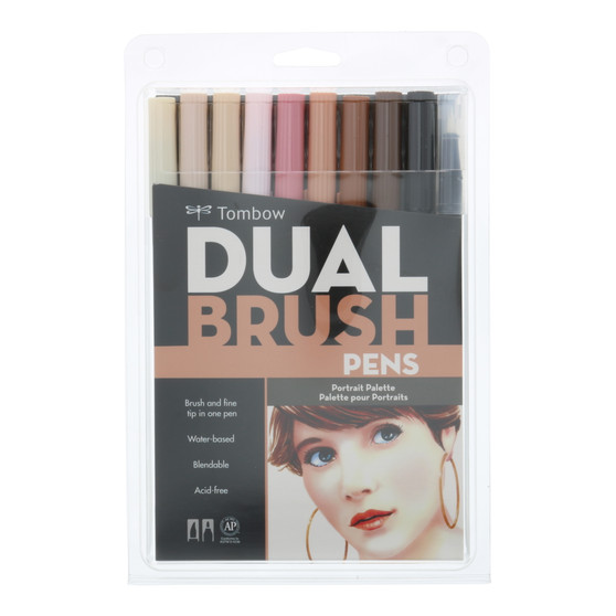 Tombow Dual Brush Marker 10 Set Portrait