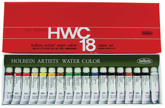 Holbein Watercolor Set of 18 Colors 5ml